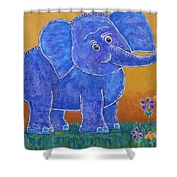 A Very Happy Day Shower Curtain by Suzanne Theis