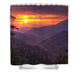 A View At Sunset Shower Curtain