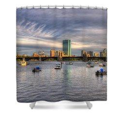 A View Of Back Bay - Boston Skyline Shower Curtain by Joann Vitali