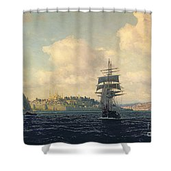 A View Of Constantinople Shower Curtain by Michael Zeno Diemer