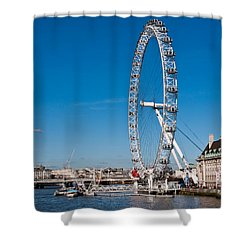 A View Of The London Eye Shower Curtain