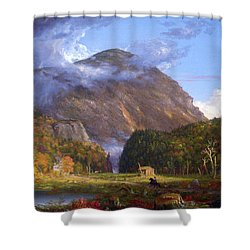 A View Of The Mountain Pass Called The Notch Of The White Mountans By Thomas Cole Shower Curtain