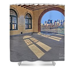 A View To Nyc Shower Curtain by Susan Candelario