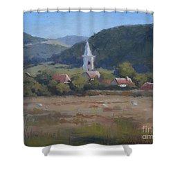A Village In Erdely Shower Curtain