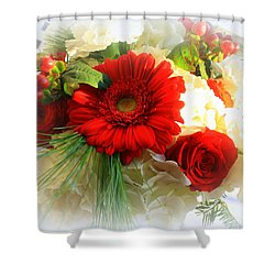 A Vision In Red Shower Curtain