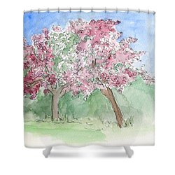 A Vision Of Spring Shower Curtain