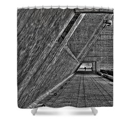 A Visitor Shower Curtain by Mark Alder