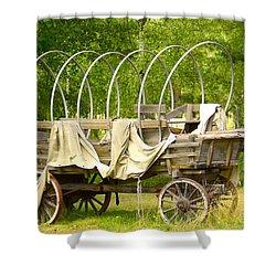 A Wagon Shower Curtain