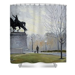 A Walk In Forest Park In St.louis Shower Curtain