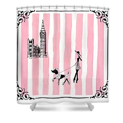 A Walk In London Shower Curtain