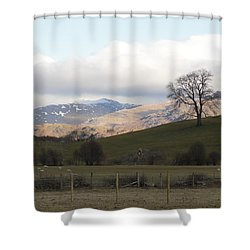Shower Curtain featuring the photograph A Walk In The Countryside In Lake District England by Tiffany Erdman