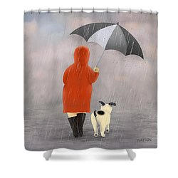A Walk In The Rain 2 Shower Curtain by Marlene Watson