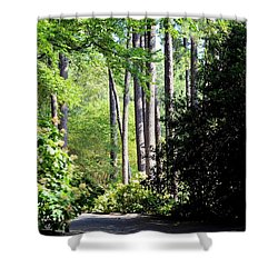 A Walk In The Shade Shower Curtain by Maria Urso