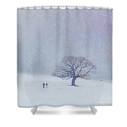 A Walk In The Snow Shower Curtain