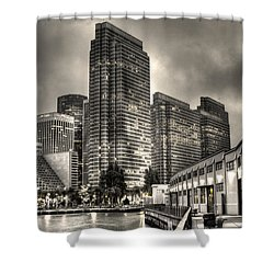 A Walk On The Embarcadero Waterfront Shower Curtain