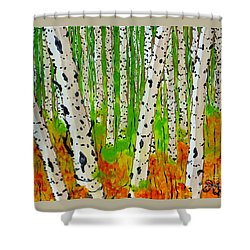 A Walk Though The Trees Shower Curtain by Jackie Carpenter