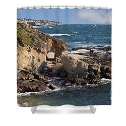 A Walk Through The Rocks Shower Curtain by Loriannah Hespe