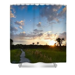 Shower Curtain featuring the photograph A Walk With You... by Melanie Moraga