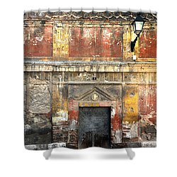A Wall In Decay Shower Curtain by RicardMN Photography