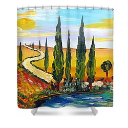 A Warm Day Under The Tuscan Sun Shower Curtain