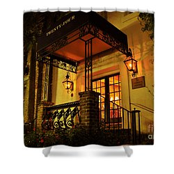 Shower Curtain featuring the photograph A Warm Summer Night In Charleston by Kathy Baccari