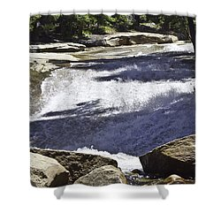 Shower Curtain featuring the photograph A Water Slide by Brian Williamson