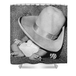 A Wee Weary Cowpoke Shower Curtain by Underwood Archives