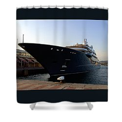 A Weekend Boat Shower Curtain