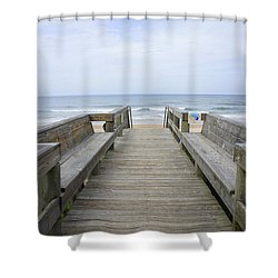 Shower Curtain featuring the photograph A Welcoming View by Laurie Perry