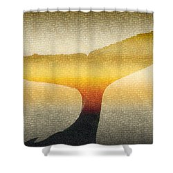A Whales Tale Shower Curtain by Holly Kempe