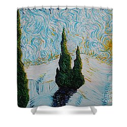 A White Day Shower Curtain by Stefan Duncan