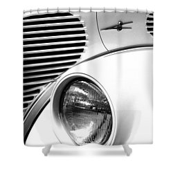 A White V8 Shower Curtain by Paul W Faust -  Impressions of Light