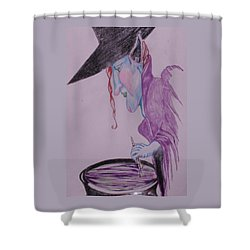 A Wicked Brew Shower Curtain