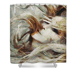 Shower Curtain featuring the painting A Wild Dance by Joe Misrasi