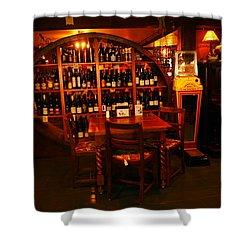 A Wine Rack Shower Curtain by Jeff Swan