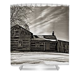 A Winter Dream Monchrome Shower Curtain by Steve Harrington