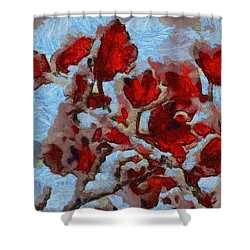 A Winter Eden Shower Curtain by Dan Sproul