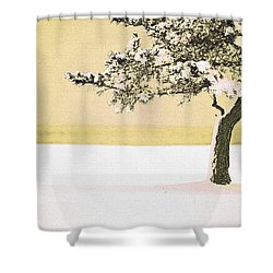 A Winter Moment Shower Curtain by Karol Livote