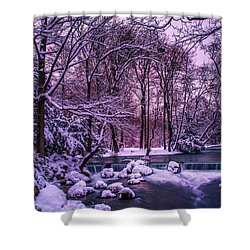 a winter's tale I - hdr Shower Curtain by Hannes Cmarits