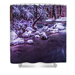 a winter's tale II - hdr Shower Curtain by Hannes Cmarits