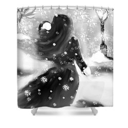 A Winters Walk Shower Curtain