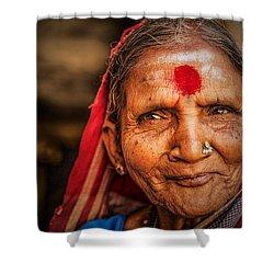 A Woman Of Faith Shower Curtain by Valerie Rosen