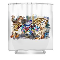 A World Of Popcorn And Candy Shower Curtain
