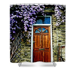 A Yorkshire Door Shower Curtain