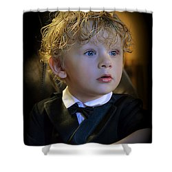 Shower Curtain featuring the photograph A Young Gentleman by Ally  White