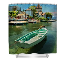 A Yvoire - France Shower Curtain by Jean-Pierre Ducondi