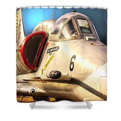 A4 Skyhawk Attack Jet Shower Curtain
