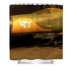 Aardvark F-111 Shower Curtain