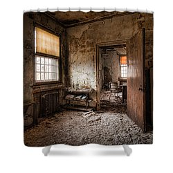 Abandoned Asylum - Haunting Images - What Once Was Shower Curtain