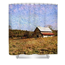 Shower Curtain featuring the photograph Abandoned Barn In North Georgia by Vizual Studio